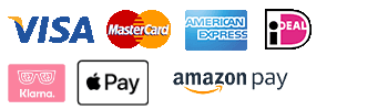 Visa, Mastercard, American Express, iDeal, Amazon Pay, Apple Pay, ING Homepay, Klarna Pay Later